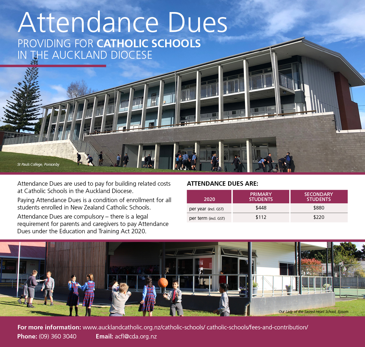 Attendance Dues 2020